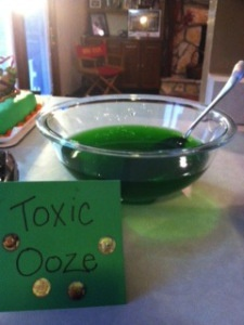 Toxic Ooze- a perfect treat for a Teenage Mutant Ninja Turtle birthday party