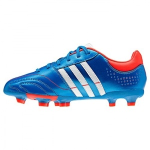 SALE - Adidas Nova Soccer Cleats Kids Blue Leather - Was $55.00 - SAVE $17.00. BUY Now - ONLY $38.00