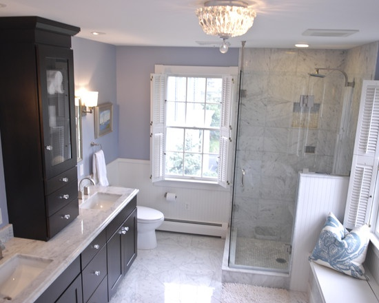 33 best images about purple bathroom on pinterest purple - Lavender and white bathroom ...