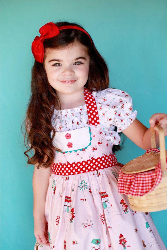 Little Red Riding Hood inspired Halter Dress by ChewChewsCloset, $52.00 #chewchewscloset