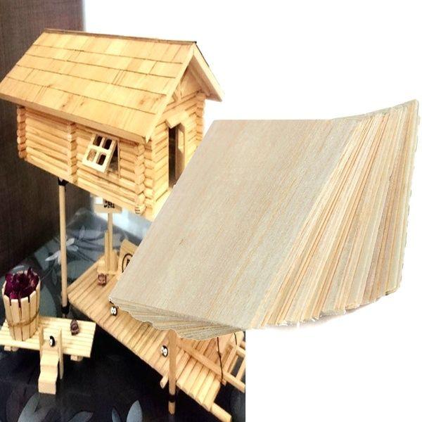Craftssupplie Woodsheet Woodendiymaterial Balsawoodplate 1 Plate Diy House