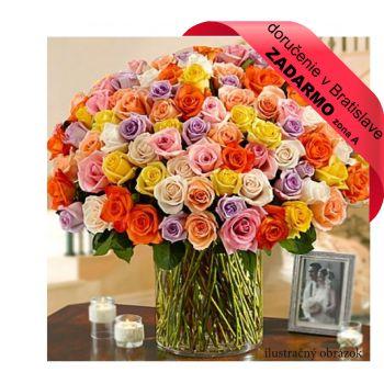 Kytica 101 farebných ruží