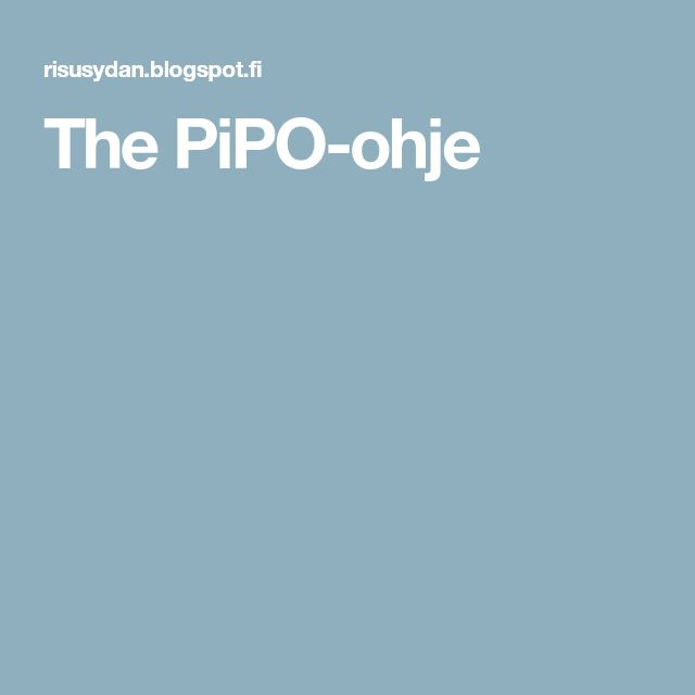 The PiPO-ohje