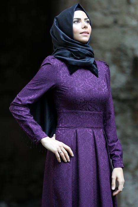 Efrend Moda Mor Efruz Brokar Elbise