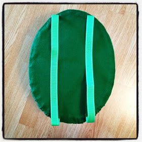 DIY shell for a turtle costume!