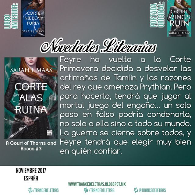 Una Corte De Alas Y Ruina (A Court of  Thorns and Roses #3) de Sarah J. Maas