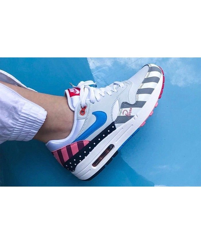 b0e6ac47b1f086 Nike Air Max 1 Trainers In White Multi-color AT3057-100