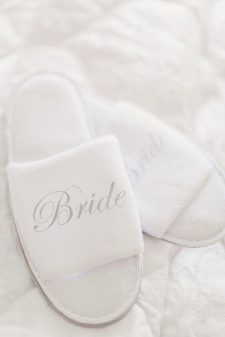 Brides slippers!