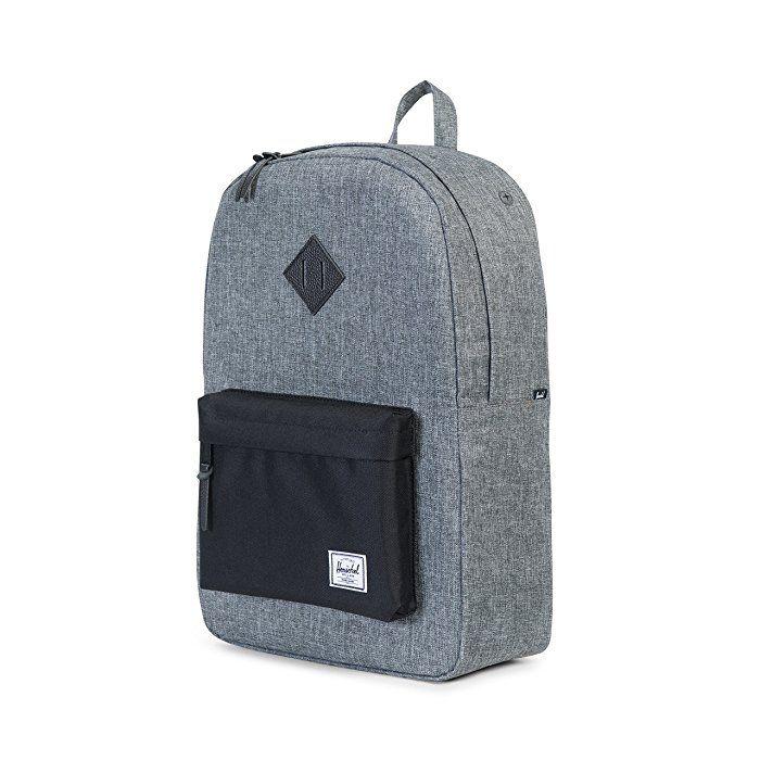 Amazon.com   Herschel Supply Co. Heritage Backpack, Raven Crosshatch Black  948eb1738d