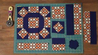 How to make a Rolling Stone Block: Craft, Quilt Block, Green, Quilt Pattern
