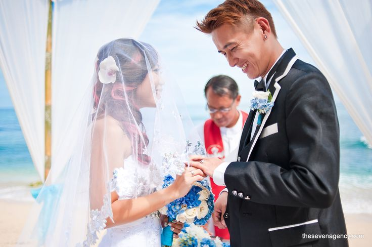 As you enter this new life as one, may peace, love and strength of two become one to nourish and nurture your marital life to fruitfulness.   #baliwedding #beachweddings #beach #wedding #Bali #smile