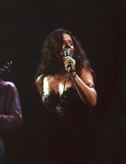 1968: Janis Joplin performing with Big Brother and the Holding Company at the Fillmore East in New York City, NY