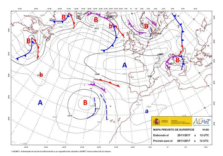 El tiempo del domingo: Siguen los vientos y las lluvias en Canarias. Bajada de las temperaturas en el area mediterránea.