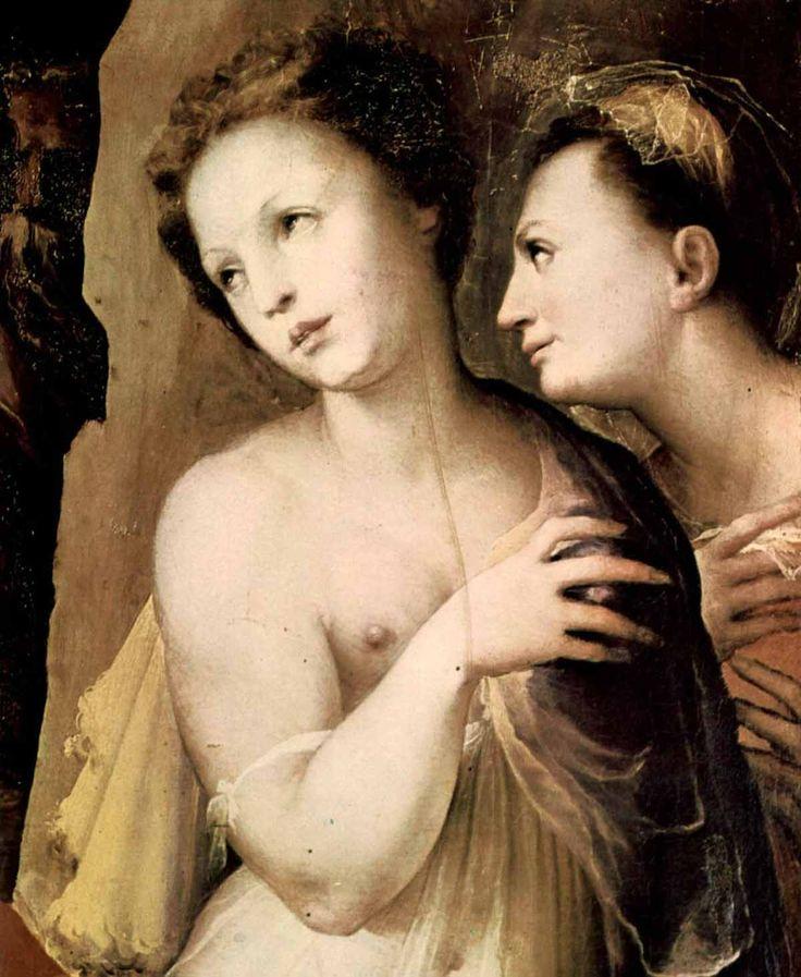 Доменико Беккафуми . «Сошествие во ад» (фрагмент) 1530-35  Сиена, Национальная пинакотека.