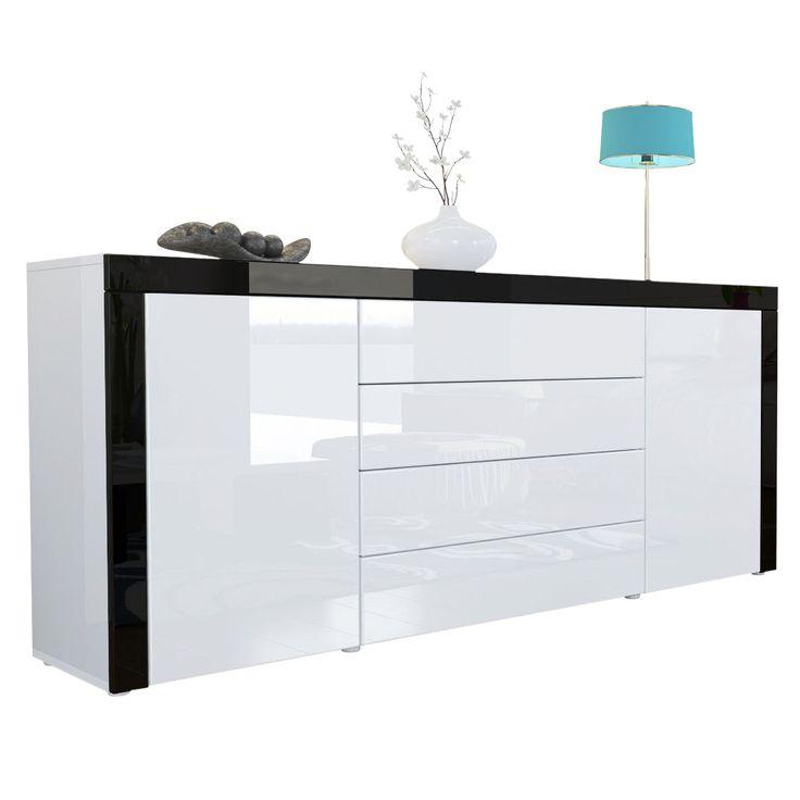 Sideboard weiß hochglanz billig  Moderne Fronten in weiss hochglanz überzeugen ebenso wie die ...