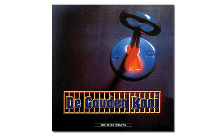 """""""De Gouden Kooi"""" televisieprogramma logo en format presentatie ontwerp iov John de Mol Produkties, verzorgd door Reclamebureau Holland"""