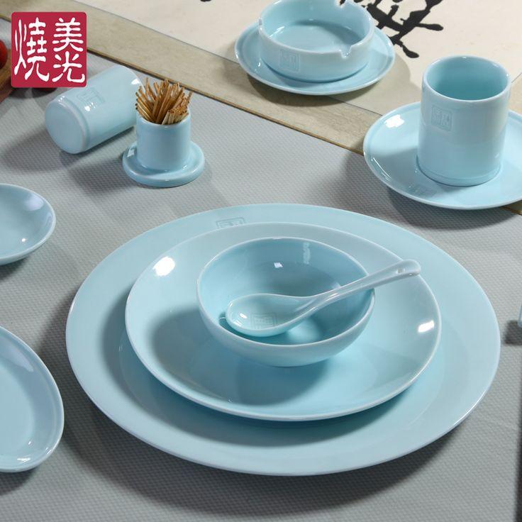 Chinese restaurant celadon dinnerwareu0026ceramic dinnerware set YZ & 39 best Celadon Chinese restaurant tableware serving plateu0026porcelain ...