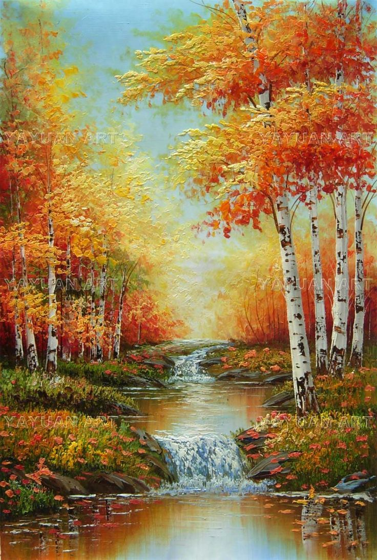 Birch Forest Scenery, Wholesale oil painting -