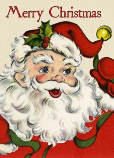 Retro-Style Santa Christmas Card (288873)