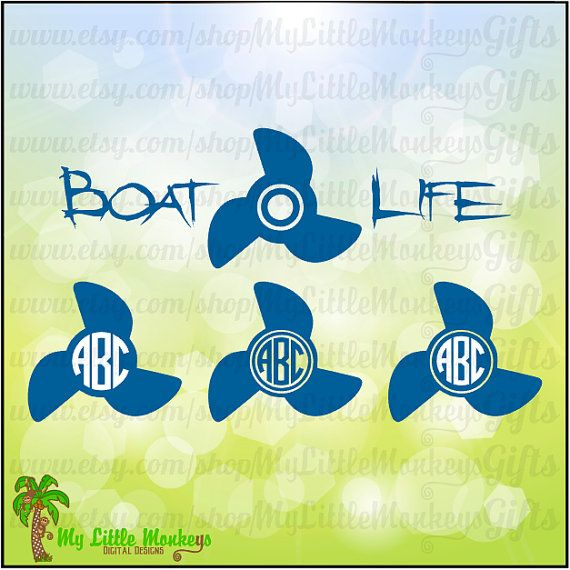 Boat Life Propeller Monogram Base Designs by MyLittleMonkeysGifts