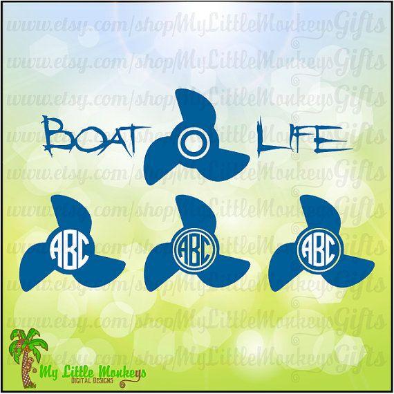 Boat Life Propeller Monogram Base Designs by MyLittleMonkeysGifts