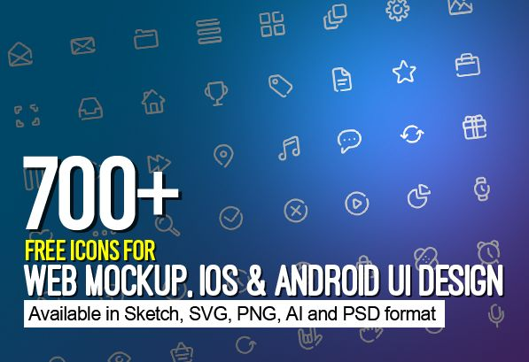 700+ Free Icons for Web, iOS and Android UI Design #UXdesign #android #freeicons #psdicons #ios8 #vectoricons
