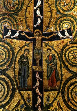 We adore thee, O Christ, and we bless thee, for by the holy cross, you have redeemed the world.