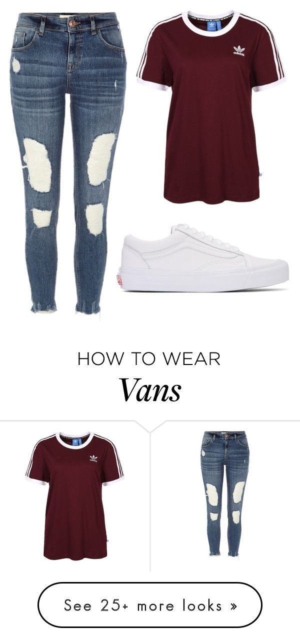 """""""Untitled #1474"""" by chaoticaphrodite on Polyvore featuring adidas Originals, Vans and River Island"""