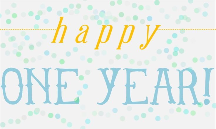 Happy 1 Year Blogiversary!!