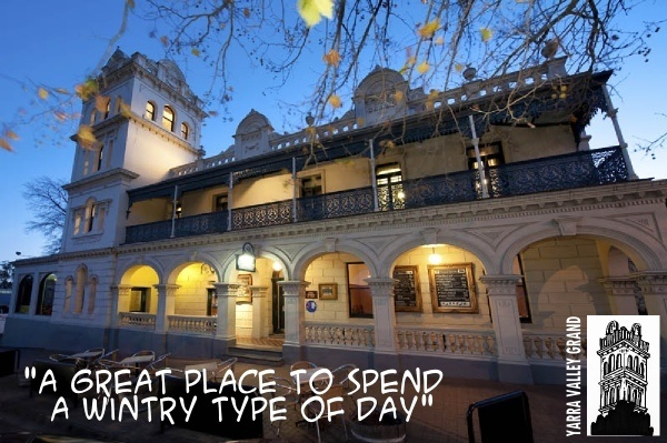 The Yarra Glen Grand Hotel - also known as the Yarra Valley Grand! Great food, Great music on the decks in the summer months.