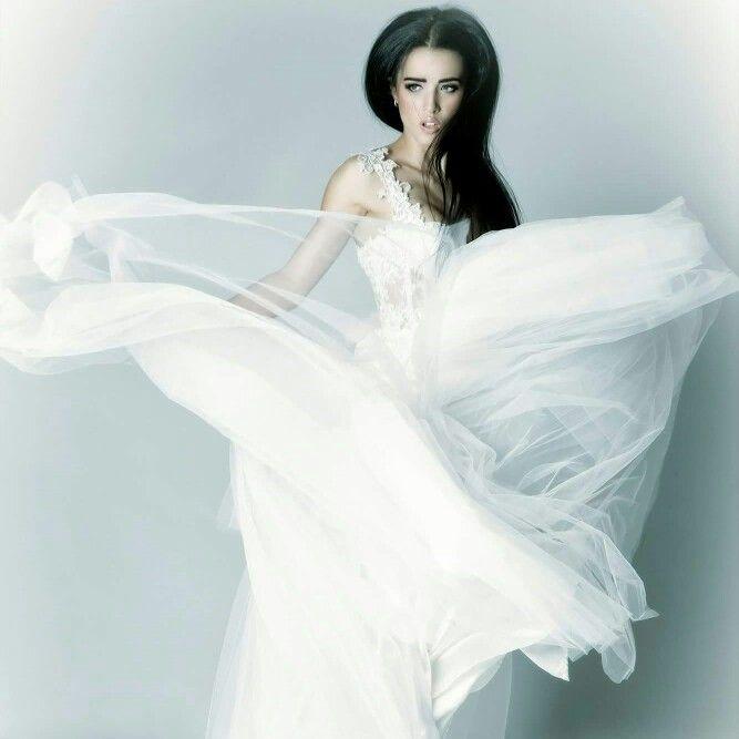 Stunning lace gown with straps aleksbridal.com.au