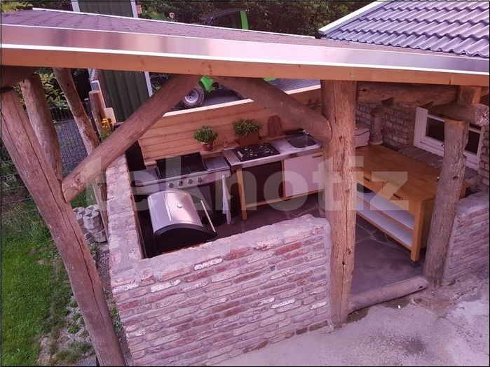 Grill – Außenküche selber bauen – Fotobericht – hobby-test.de – #außenküche #bauen #enkuche #fotobericht