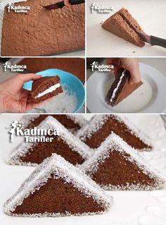 Porsiyonluk Üçgen Pasta Tarifi