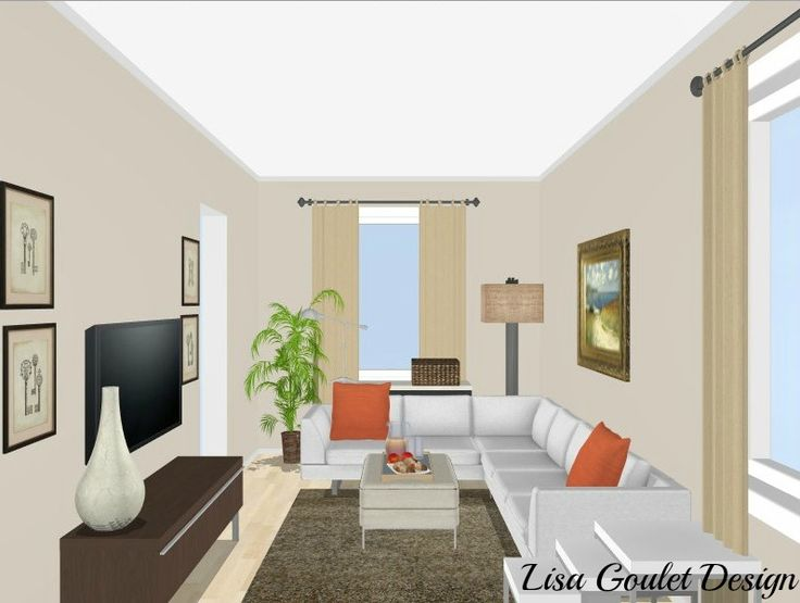 Decorating Rectangular Living Room