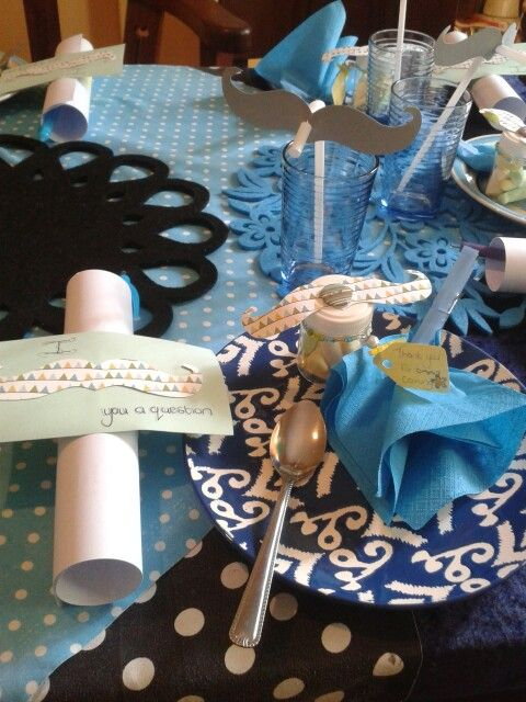 Lil man baby shower