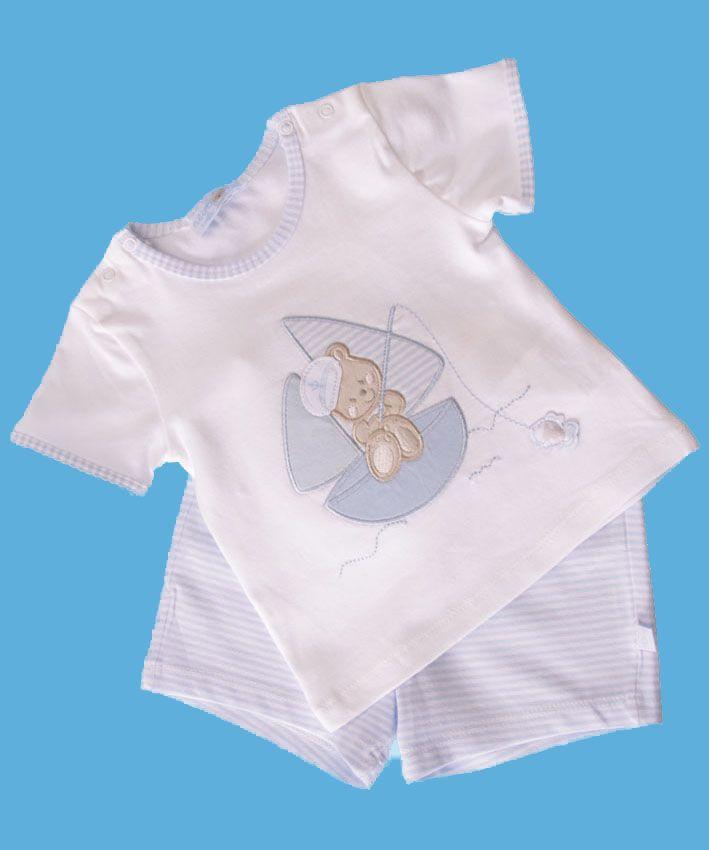 Baby Boy Top & Shorts Set Teddy - Baby Boy Clothes - Boutique Signorelli
