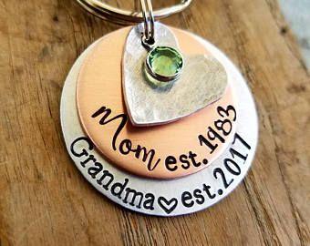 Personalised Memory Locket Floating keyring Mum nan nana Mother/'s day gift..