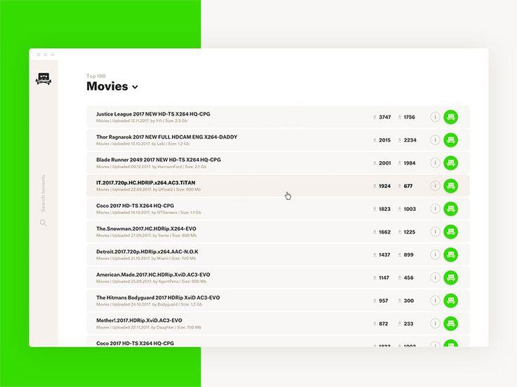 Piratebay—UI Weekly Challenges-Season 02 / Week [7/10] by Hrvoje Dominko