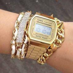 reloj casio dorado mujer - Buscar con Google #reloj #michaelkors #mujer #michaelkorsperu #peru