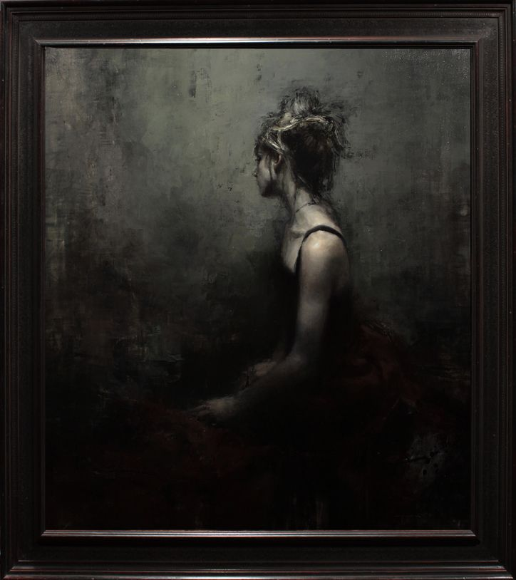 """The Melancholy Passerine"" - Oil on Panel - 51 x 45 in. • Jeremy Mann"