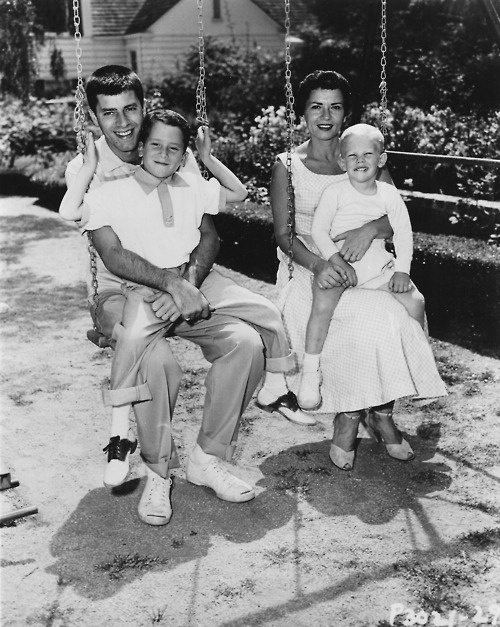 Jerry Lewis and his family.