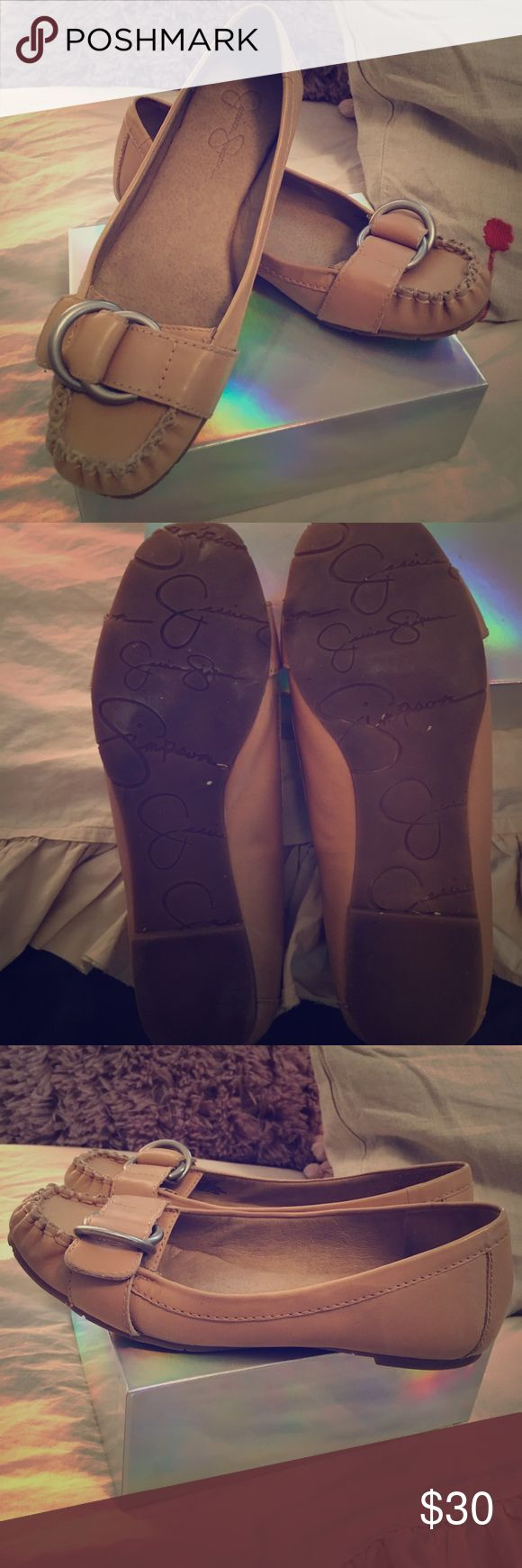 Jessica Simpson Flats Excellent used condition beige Jessica Simpson flats only worn a few times! Jessica Simpson Shoes Flats & Loafers