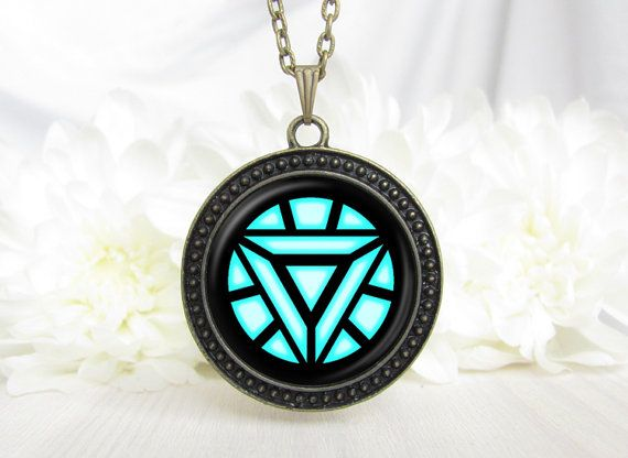 iron man necklace arc reactor necklace avengers by GeekeryClub