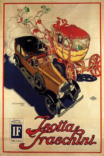 Vintage Italian Posters ~ #Italian #vintage #posters ~ #Isotta Fraschini