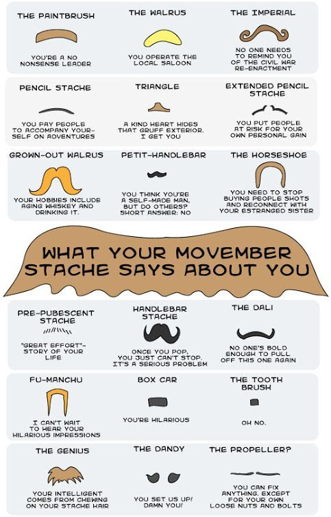 Different moustaches for Movember