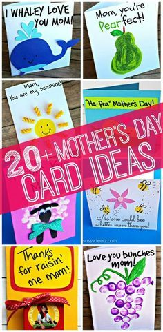 20+ Mother's Day Card Ideas for Kids to Make! #Mothersday gifts #DIY | http://www.sassydealz.com/2014/04/easy-meaningful-mothers-day-crafts-kids-make.html