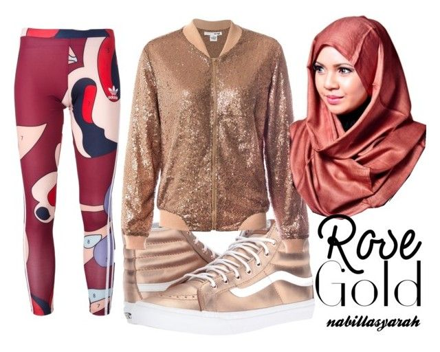 """""""Fancy Sport feat. Hijab"""" by nabillasyarah on Polyvore featuring Vans, Sans Souci and adidas Originals"""