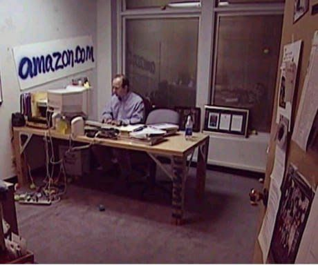 This is a photo of #Amazon's Jeff Bezos in 1999. Screenshot this or retweet it and look at it every time you start to feel doubt or fear trying to steal your dreams...