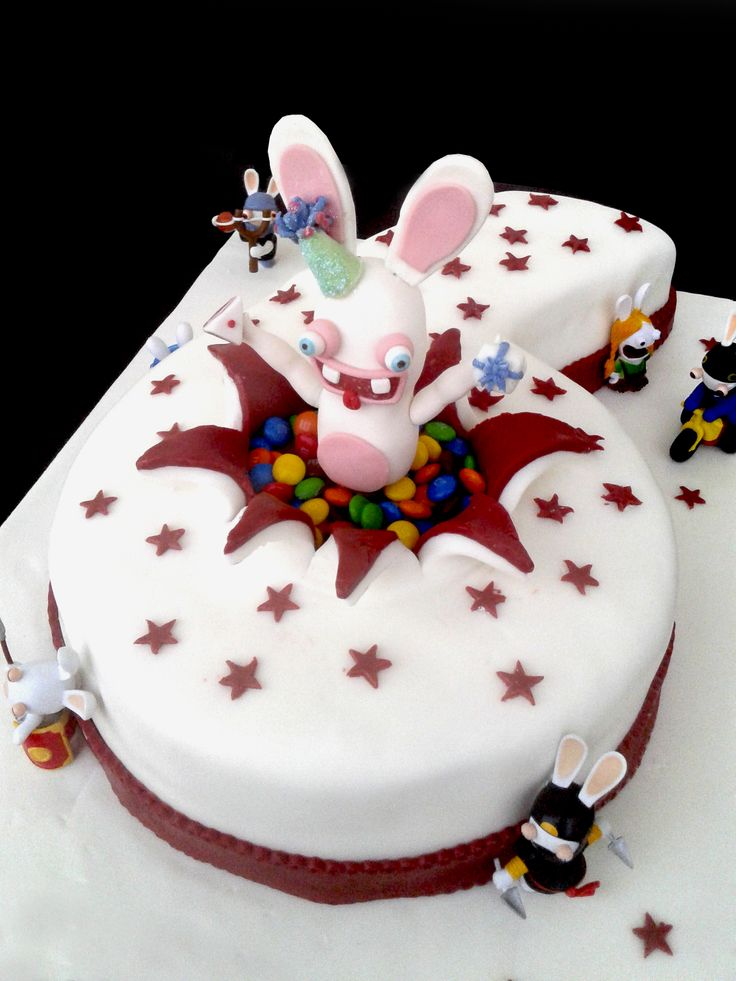 Cake I made for my son's 6th! Number cakes. RABBITS INVASION