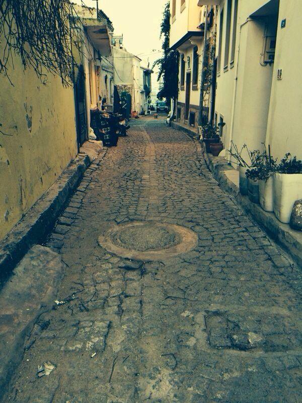Empty streets in Bozcaada
